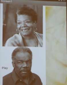 Maya Angelou and Sam Gilliam.