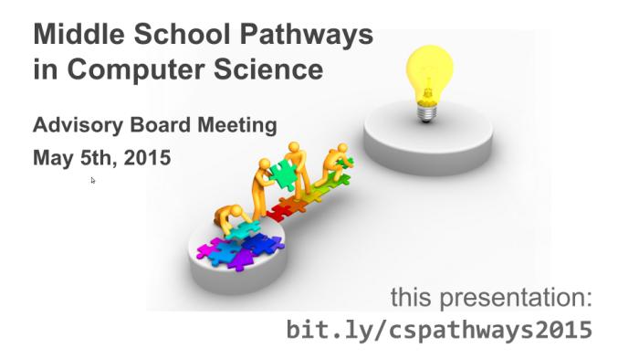 Advisory Board presentation, May 5, 2015