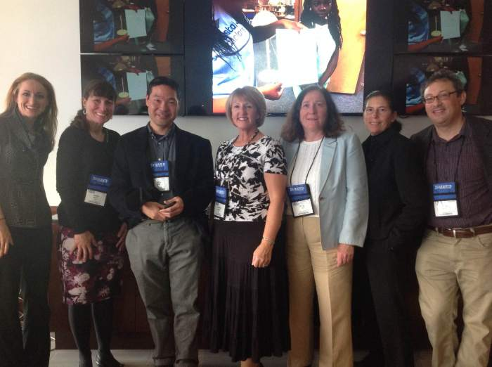 The CS Pathways team members at MassCUE, October 21, 2015. L-R: Erin Natale, Dawn Munro, Akira Kamiya, Denise Salemi, Molly Laden, Lori Blank, and Fred Martin.