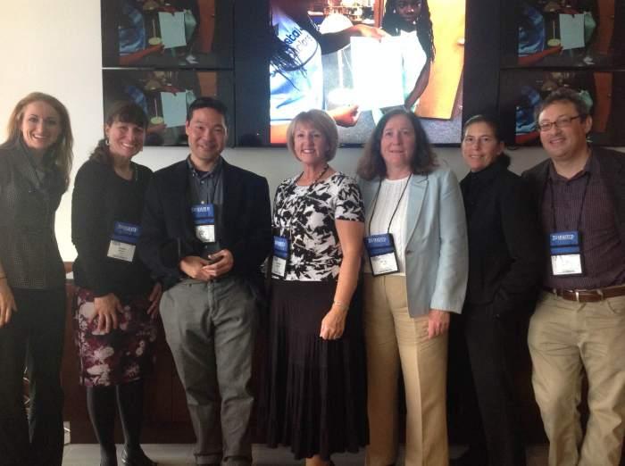 The CS Pathways team members at MassCUE, October 21, 2015. L-R: Erin Natale, Dawn Munro, Akira Kamiya, Denise Salemi, Molly Laden, Lori Blank, and Fred Martin.